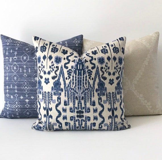 Throw Pillow In Navy Blue