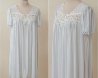 bdc46a30fce Light Blue Lace Nightgown