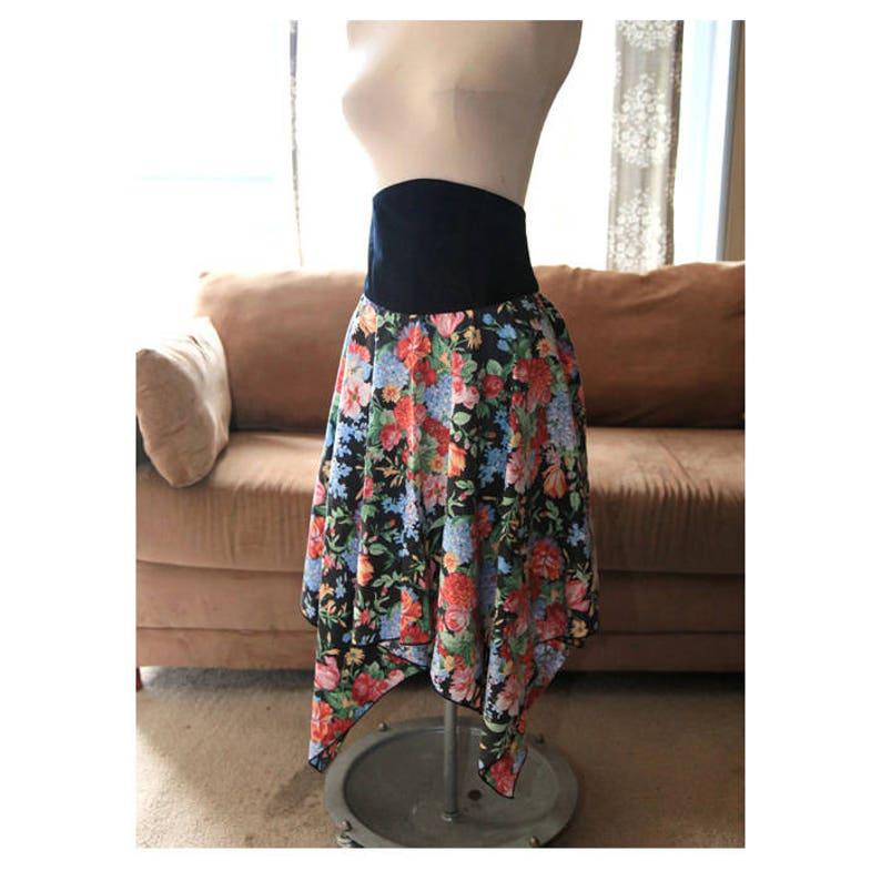 02533d307 High Waisted Floral Skirt Boho High Waist Gypsy Skirt | Etsy