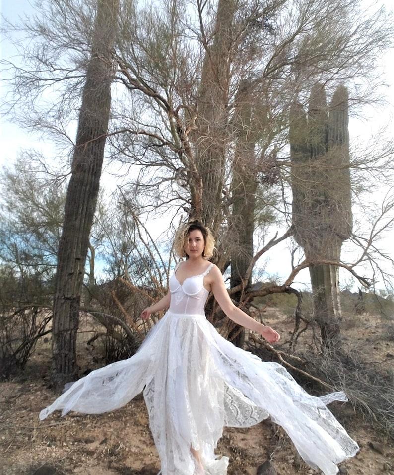 150806a44167 Lace Faerie Dress White Lingerie Fairy Gown Bespoke Boho