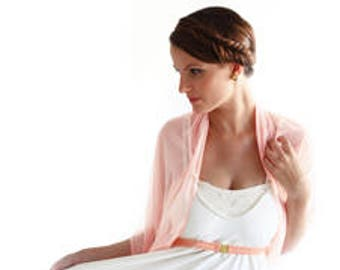 Plus Size Blush Cover Up, Sheer Infinity Shawl. Versatile Top- Shawl, Scarf, Crisscross Or Scarf. Bridesmaid Shrug, Pink Cover Up, Light top