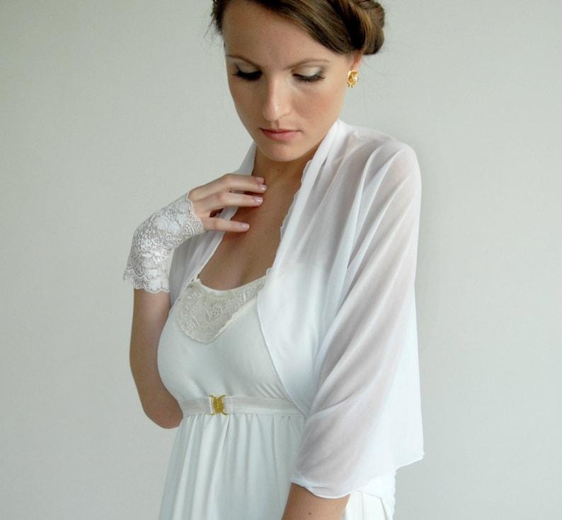 e01e30f026ec7 Wedding Bolero Sheer Shrug Bridal Accessory White Shrug   Etsy