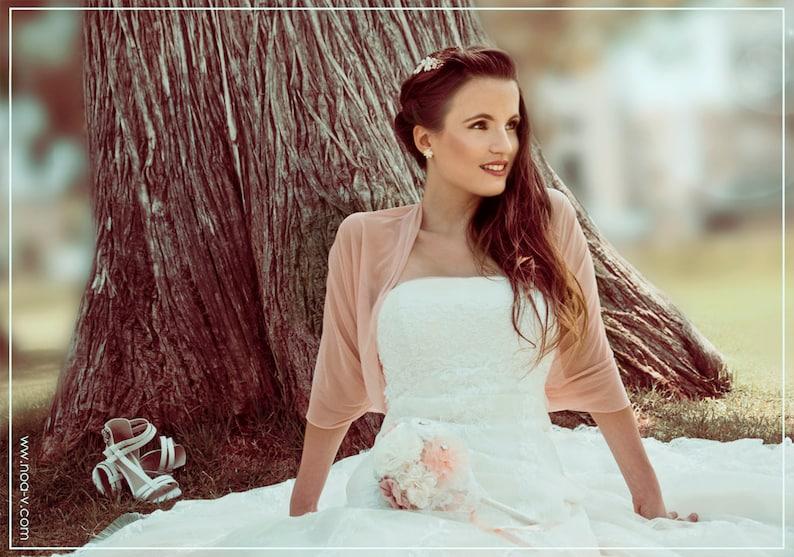 Bridal Shawl With 4 Wearing Options Shawl Shrug Crisscross Blush