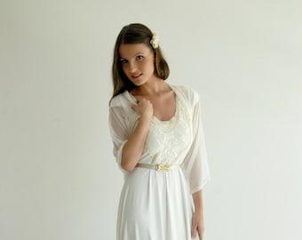 Bridal Shrug, Versatile Cover Up- Shawl, Shrug, Crisscross And Scarf. Bridal Bolero Ivory Or White, Sheer Wedding Shawl, Bridal Wrap Shawl