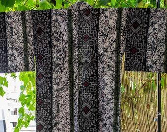 Vintage Japanese cotton yukata kimono abstract geometric