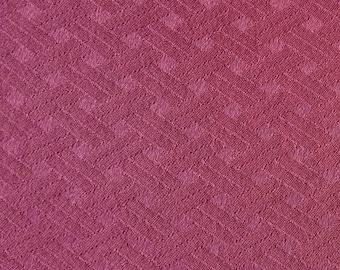 """Vintage Japanese silk kimono fabric 92 cm x 36 cm woven  basket pattern bokashi 36"""" x 14"""""""