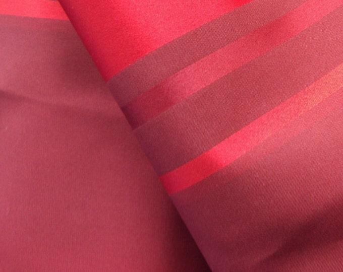 "Vintage Japanese  silk kimono fabric 92 cm x 36 cm  red wine silk satin smooth  36"" x 14"""