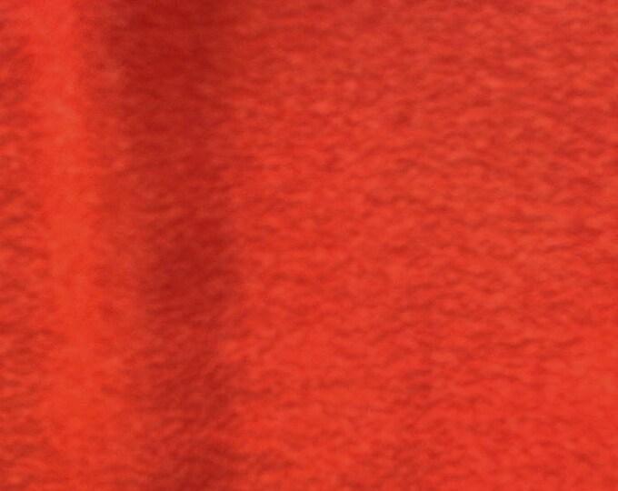 "Vintage Japanese silk kimono fabric 92 cm x 36 cm vermilion red silk crepe 36"" x 14"""