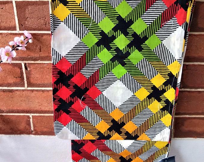 Funky colourful Retro Pop flower new with tages Japanese cotton yukata kimono geometric 100% cotton