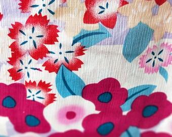 nadeshiko, bell flowers and camellia new with tages Japanese cotton yukata kimono Hemp and cotton blend