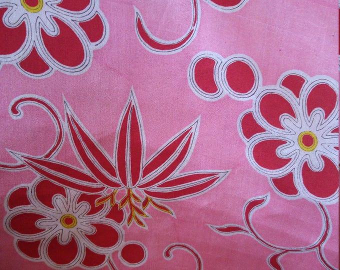 Vintage Japanese silk kimono fabric 92 cm x 36 cm lightweight juban fabric with soft crepe feel.