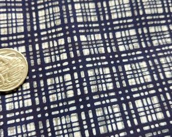"""Japanese kimono indigo blue and white cotton yukata fabric 36"""" x 14"""" abstract geometric  92 cm x 36 cm"""