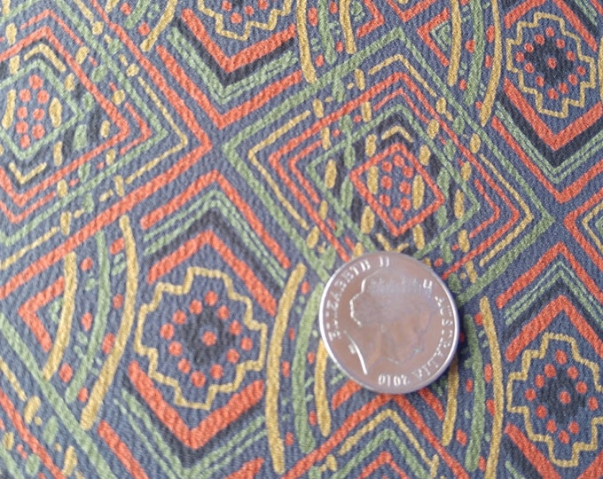 Vintage Japanese silk crepe kimono fabric 92 cm x 36cm chirimen retro pop autumn