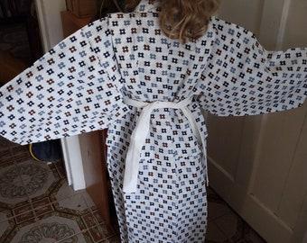 Japanese cotton yukata for kids /boys yukata with geometric.