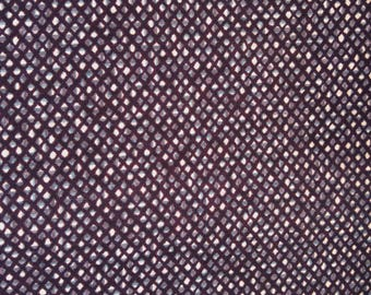 "Japanese kimono indigo blue and white cotton yukata fabric 36"" x 14"" abstract geometric fishing net 92 cm x 36 cm"