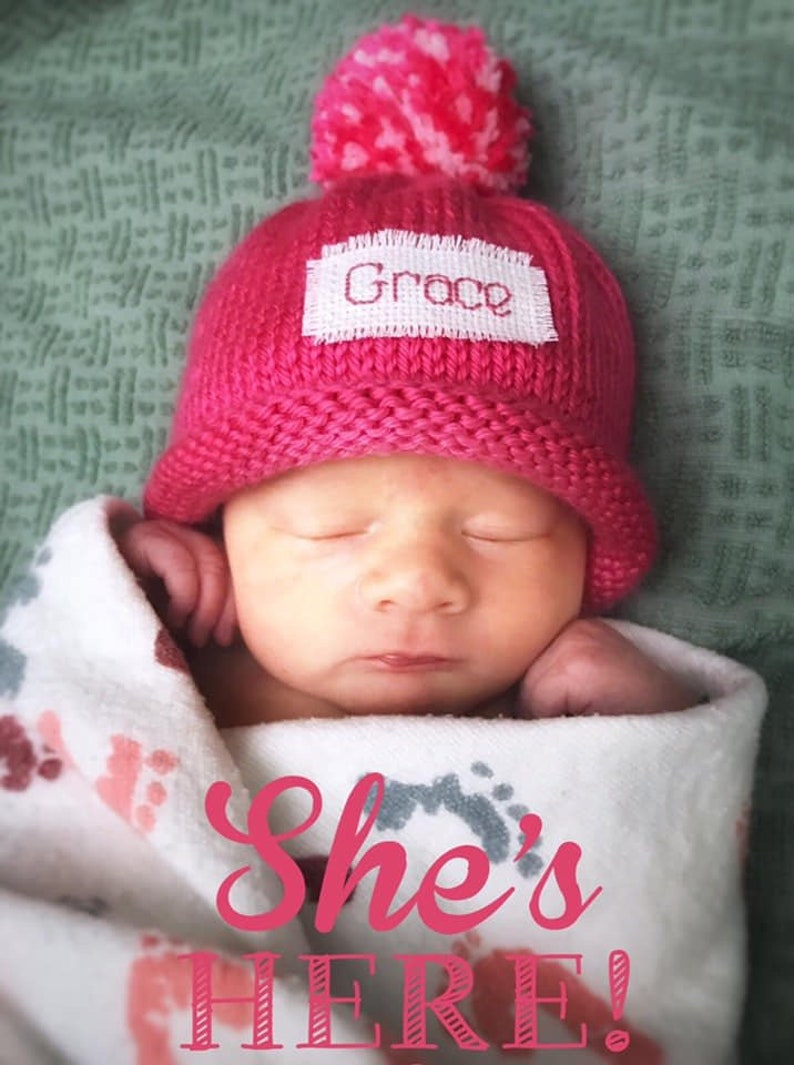7788c452b54 NEWBORN NAME ANNOUNCEMENT Personalized baby boy hat
