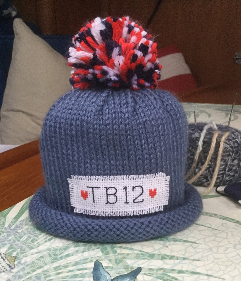 8e29f47ba9cec New England Patriots Football winter hat Newborn TOM