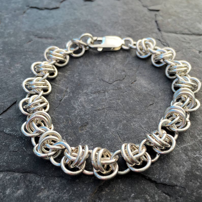 Sterling Silver Bracelet Twist of Fate Bracelet Barrel Weave image 0