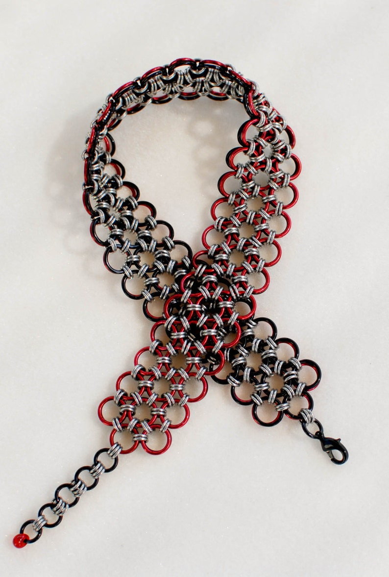 Power and Passion Black and Red Choker Collar D/s image 0