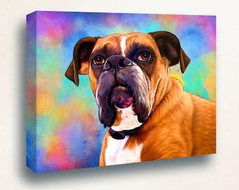 Boxer Portrait   Custom Boxer Portrait   Boxer Painting From Your Photos   Boxer Art by Iain McDonald