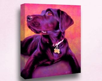 Black Labrador Portrait   Custom Black Labrador Portrait   Black Labrador Painting From Your Photos   Black Labrador Art by Iain McDonald