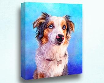 Custom pet portrait, Hand drawn digital pet portrait, Personalised pet portrait, Pet illustration, Animal portrait, Pet memorial