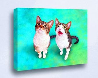 Custom Pet Portrait Print UK, Personalised Gift, Cat Portrait Dog Portrait, Pet Memorial, Pet Parent Gift, Personalised Gift
