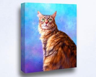 Cat Art from photos. Custom Cat Portrait.