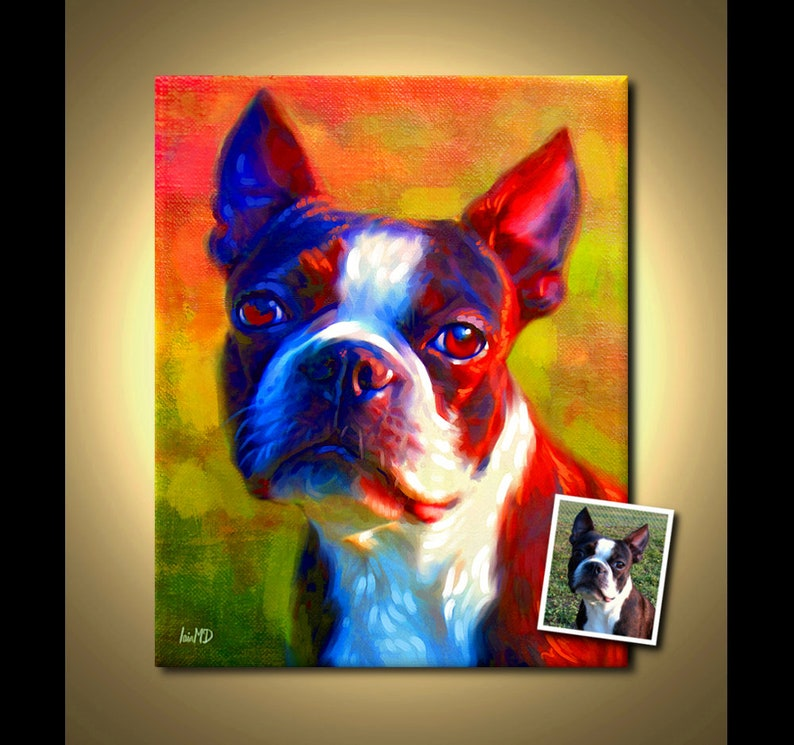 Custom Pet Portrait  your pet my crazy RISK FREE portrait image 0