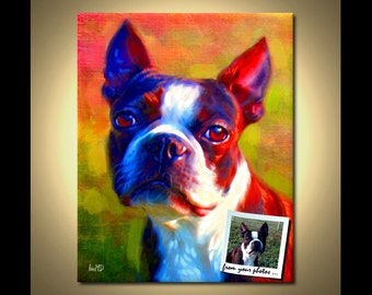 Custom Dog Portrait - From Your Photos | ScottieInspired Portraits by Iain McDonald