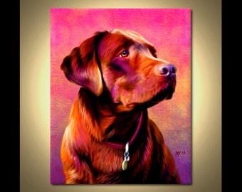 Chocolate Labrador Portrait   Custom Chocolate Labrador Portrait   Chocolate Painting From Your Photos   Chocolate Lab Art by Iain McDonald