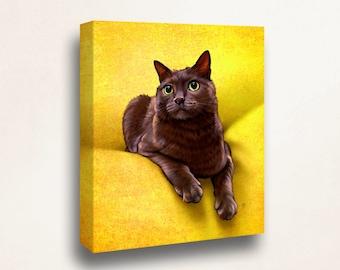 Custom Pet Portrait, Pet Portrait, Cat Portrait, Custom Cat Portrait, Custom Cat Art, Custom Cat Painting, Art