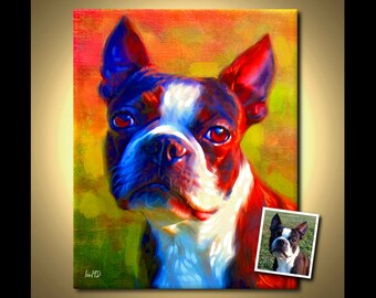 Custom Dog Portrait - your pet, my crazy RISK FREE portrait offer