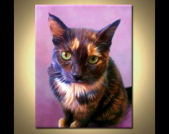 Cat Painting, Cat Art from your photos