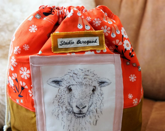 Bright flowers Project Bag Sheep/Schaap Studio Bereguod 34x30 cm