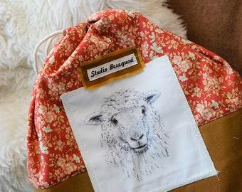 Project Bag Sheep/Schaap Studio Bereguod 35x32 cm