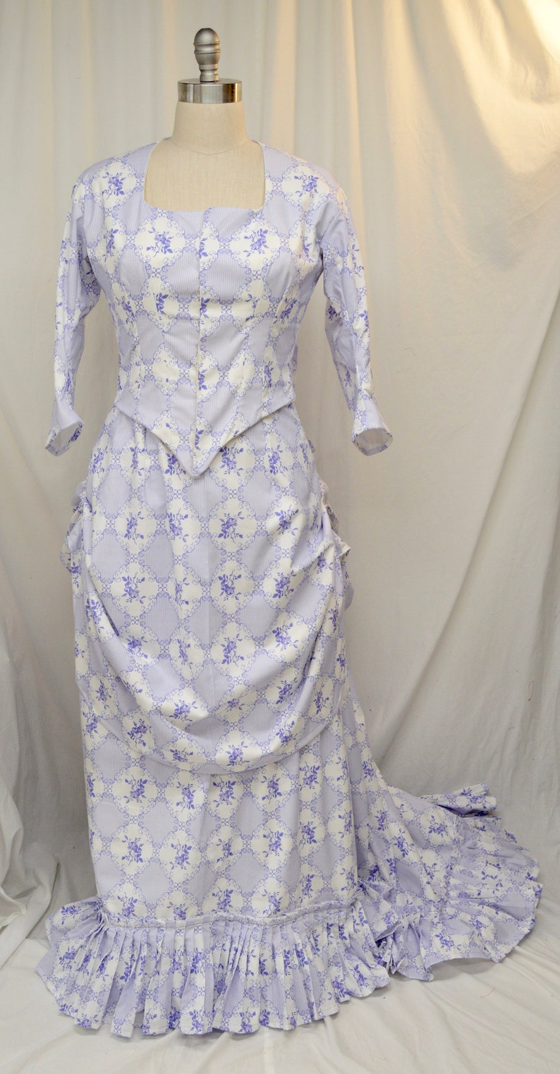 1870's Bustle Lavender Day Gown image 0