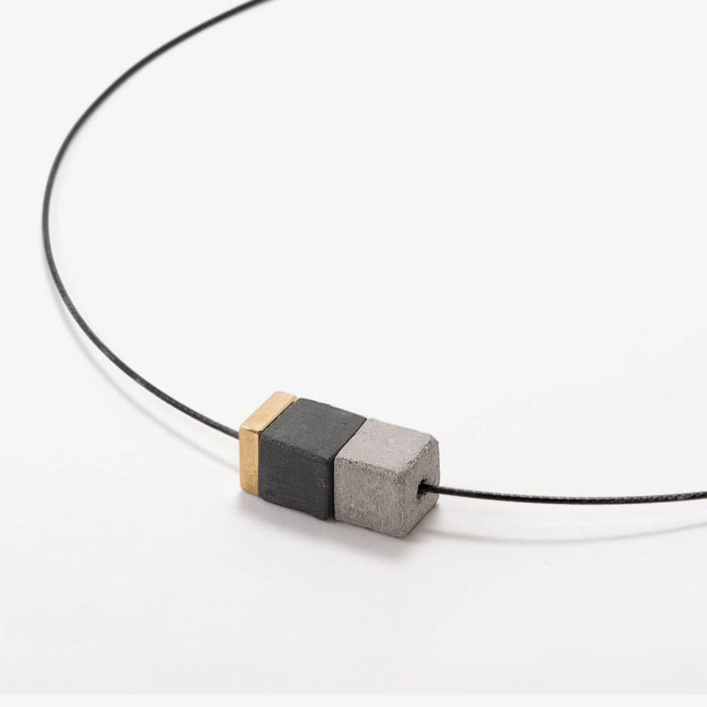 Modern Necklaces For Women Short Concrete Necklace Concrete Jewelry Gift For Women