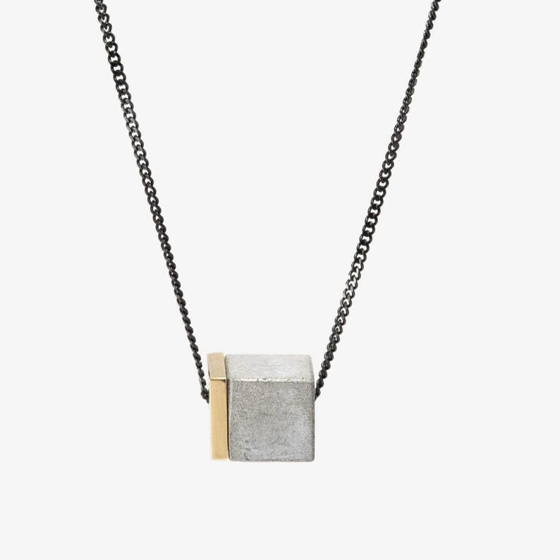 Gift For Her Women Necklace Concrete Necklaces For Women Minimal Necklace Gift