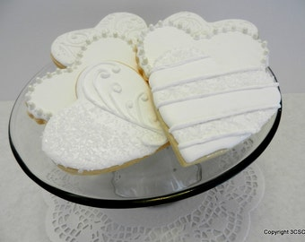 Wedding Heart Cookies - Anniversary Cookies- Valentine Cookies (#2358)
