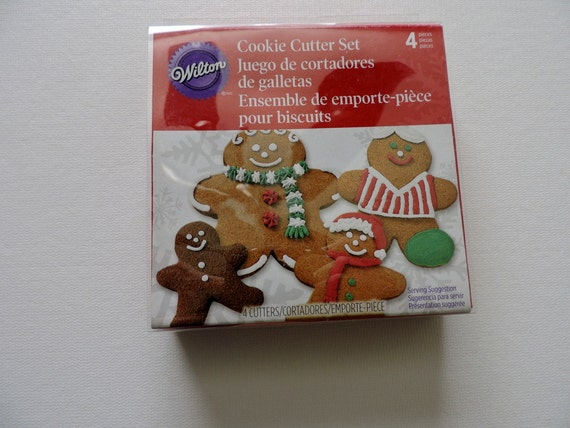 Christmas Cookie Cutter Wilton Gingerbread Nesting Cookie Cutter Set Of 4 2308 1239