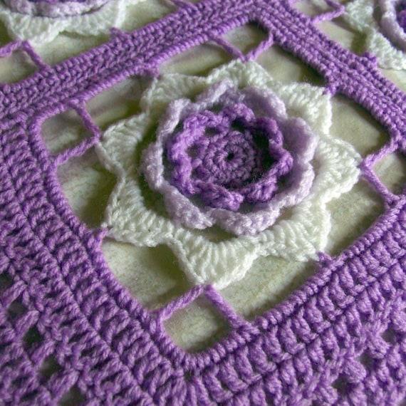 Crochet Blanket Pattern Irish Rose Afghan Crochet Blanket