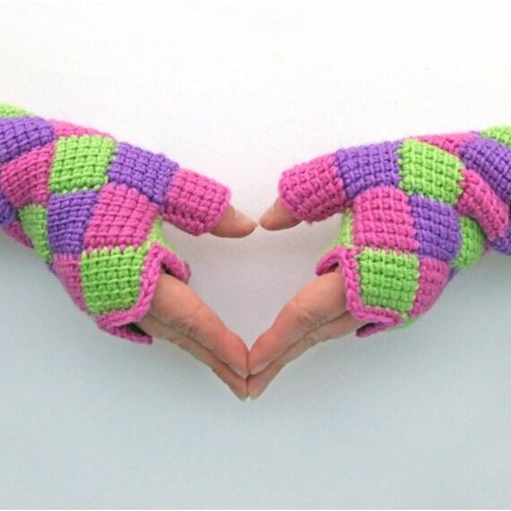 Crochet Gloves Pattern Entrelac Crochet Fingerless Gloves