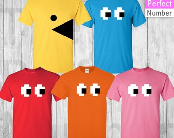 53096c97 PacMan Group Costumes / Fun Pac Man T- Shirts /Adults and Youths Sizes