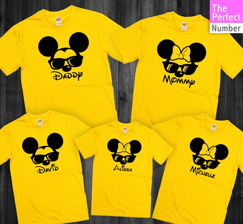 1c953507 Disney Inspired Mickey Minnie Family Vacation Names Matching | Etsy
