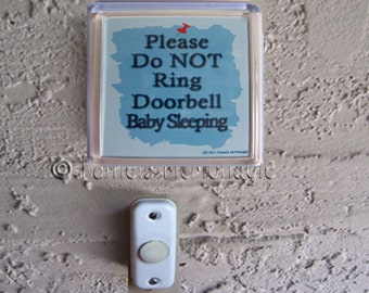 photo about Printable Baby Sleeping Sign Front Door titled Solutions very similar towards Do Not Ring Doorbell Signal, PRINTABLE