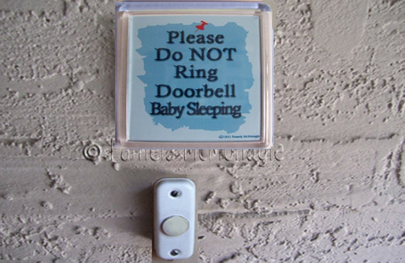 Do not ring doorbell sign slate roof vents