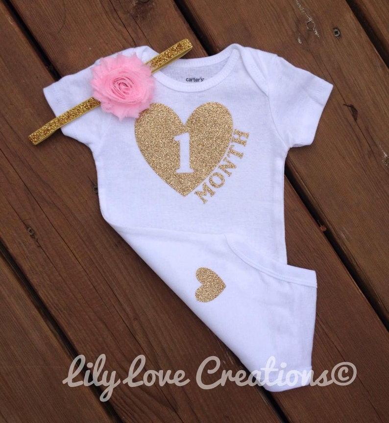c1125c2d8 One Month bodysuit One Month bodysuit 1 Month outfit First