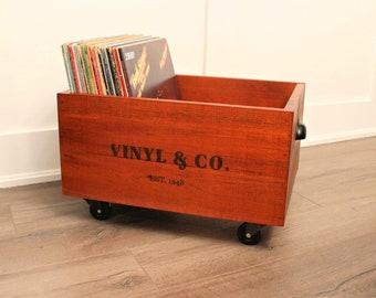 Vinyl Record Crate Etsy