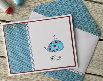 Whale of a Time - Thank You Card | Gratitude Card, Appreciation Gift, Hostess Thank You, Thank You Friend, Cute Card, Thank You Note